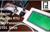 Arduino Modbus Master RTU und HMI GT01 Panasonic