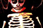 Wegweiser zur Bemalung: Gruselige Schädel.