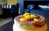 Frische Mango Schokolade Chia Parfait