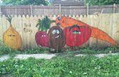 Gemüse Garten Zaun Wandbild