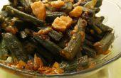 Khatti Meethi Bhindi (süß sauer Lady Finger/Okra) Rezept von gesunden Kadai