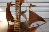 Holzstab Segelboot