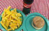 Prop gefälschte Diner essen Burger, Chips, Pommes frites, Hot Dogs für das Musical Grease