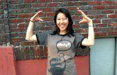 T-Shirt-Designs mit Schablonen und Bleichmittel (aktualisiert mit Roboter-Bild zum Download)