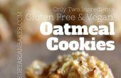 Wie erstelle ich glutenfrei, Vegan Haferflocken Cookies | Nur 2 Zutaten