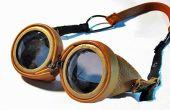 Leder-Steampunk Brille