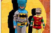 Klassischen Batman und Robin Kids' DIY Kostüme