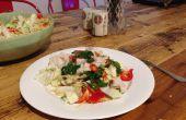 Roher Schwertfisch asiatischen Salat