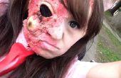 Einfach Zombie/verbrannte Haut Make-up