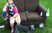 Mobile-Parade/Lagerfeuer Couch, mit Getto-Blaster, Getränkehalter und six-Pack Kühler