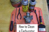 Reinigen die Vergaser in 8 einfachen Schritten!