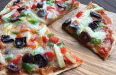 Vollkorn Fladenbrot Pizza ohne Backofen