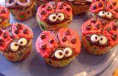 Niedliche Marienkäfer Muffins