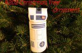 R2D2 Weihnachtsbaum Ornament aus einem WC-Papier-Rohr