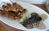 Meer-Jakobsmuschel-Satay mit Kokos-Erdnuss-Sauce