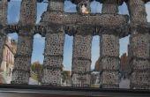 Wie man das römische Aquädukt in Segovia, Spanien mit Garn zu bauen