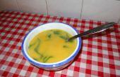 Karotten Creme mit Spinat