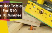 Wie erstelle ich ein Frästisch für die Holzbearbeitung für unter $10 in 10 Minuten