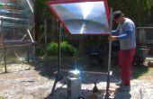 3D Fiber optic Kunstglas einer Fresnel-Linse entspringt