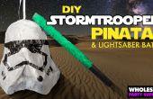 Star Wars - DIY Stormtrooper Pinata und Lichtschwert Bat