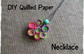 DIY-Quilled Papier Halskette