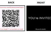 DIY auf moderne Einladungen: Verwendung von Visitenkarten und QR-Codes