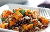 Glutenfreie Quinoa mit Süßkartoffeln und getrocknete Cranberry Füllung