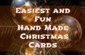 Einfachsten und Spaß Hand Made Weihnachtskarten
