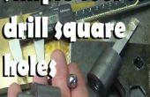 Einfaches Werkzeug, um quadratische Löcher bohren
