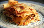 Lasagne mit gebratenem Gemüse