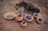 DIY-primitiven Keramik brennen