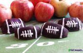 Obst Sträuße wie man Schokolade bedeckt Fußball Äpfel