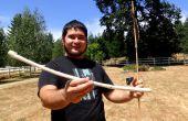 Machen Sie eine überleben Atlatl und Dart mit nur Materialien und Steinwerkzeuge gefunden