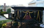 Antikes Pferd gezogenen Leichenwagen - Halloween Prop Replica