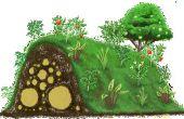 Nie Wasserpflanzen wieder mit Hugelkulture!