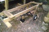 Kajak Boot Holz Wagen Ergänzung zum Anhänger Dolly
