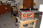 Arbeit-Frame aus einem Küche Tisch Frame - die Werkbank aufgebaut, was nicht da ist!