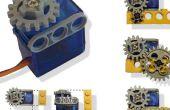 Servo-Motor angepasst an Lego