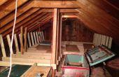 Zusätzliche Isolierung Dachboden Lagerung Soultion