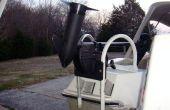 Machen eine trolling Motorhalterung aus einer Reling Haken Typ einsteigen Leiter