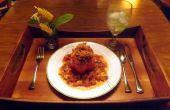 Garnelen, Wurst & QUINOA gefüllte Paprika