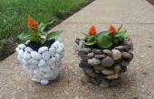 DIY Fluss Stein Pflanzer