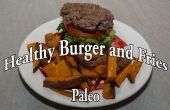Paleo-Burger und Pommes