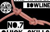 Schnelle Fähigkeiten #7: Wie man die einhändige Palstek binden