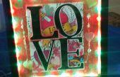 DIY-Valentines Day beleuchtet Shadow Box Geschenk