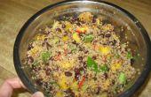 Mango und Black Bean Quinoa Salat