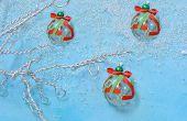 Wie erstelle ich einfach Weihnachtsbaum Ornament mit Lampwork Glasperle und Bändern