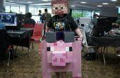 Steve reitet ein Schwein Minecraft Karton Halloween-Kostüm