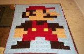 8-Bit Mario Blanket - hergestellt aus Granny Squares