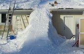 Riesige Schnee Rampe